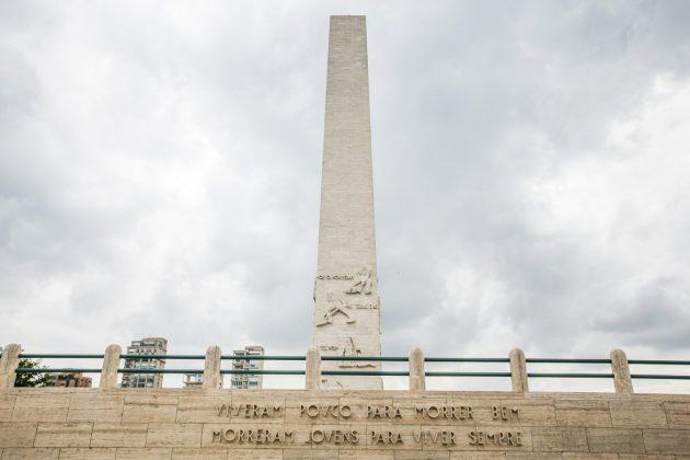 Obeslico Mausoléu aos Soldados Constitucionalistas de 1932 - Foto reprodução Governo do Estado de São Paulo
