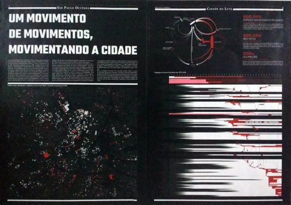 Mapa criado para a exposição da ocupação Nove de Julho - Foto: PáginaB