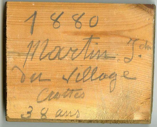 1880. Martin J, do vilarejo de Crottes. 38 anos