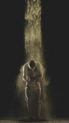 Bill Viola, still images from Martyrs (Earth, Air, Fire, Water), 2014