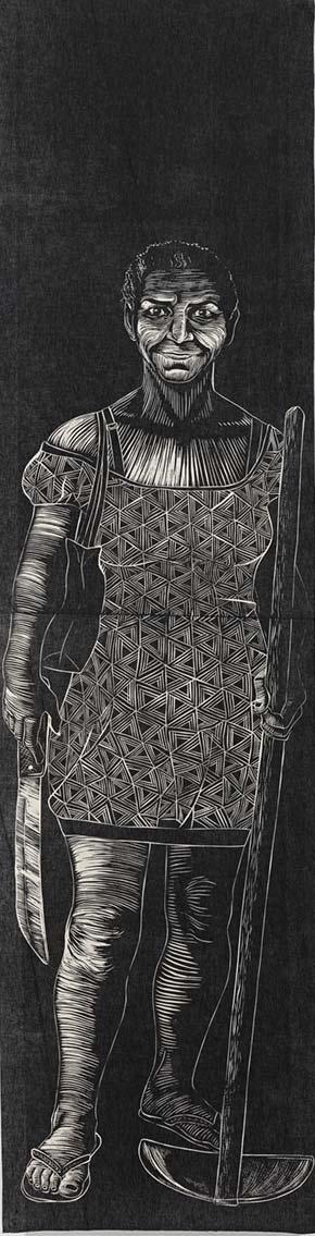 Detalhe da obra Tropa, 2017, de Luisa Almeida