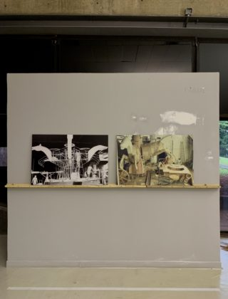 Peça da exposição Ratos e Urubus - Na foto vemos os Retratos da montagem dos carros alegóricos por Valtemir Miranda