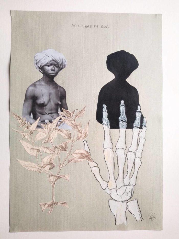 Rosana Paulino, As filhas de Eva, 2014. Trabalho exibido na Bienal Mercosul