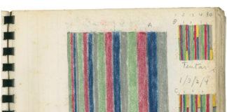 Rubem Ludolf, Estudo para pintura, 1970, Giz pastel sobre papel.
