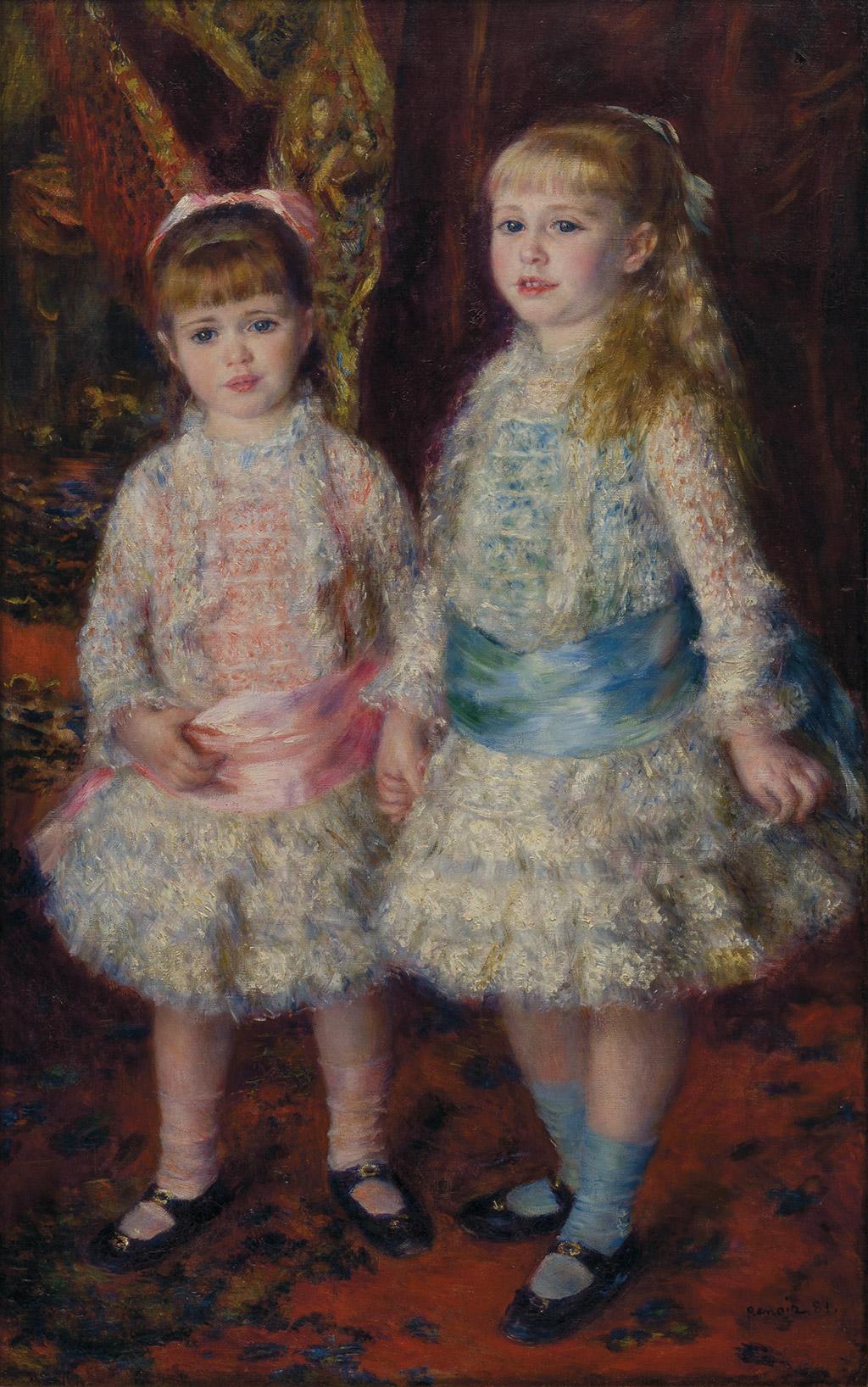 Rosa e azul - As meninas Cahen d'Anvers, de Renoir, no MASP