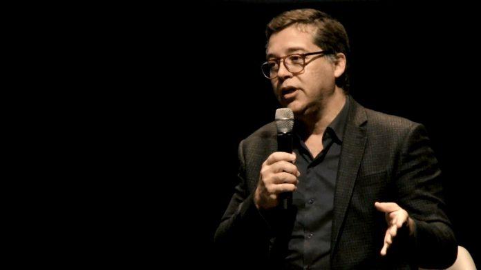Eduardo Saron, diretor do Itaú Cultural, durante seminário organizado pela arte!brasileiros e pelo IC em 2019. Foto: Divulgação
