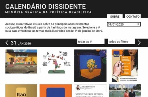 Calendário dissidente, documento gráfico da política brasileira