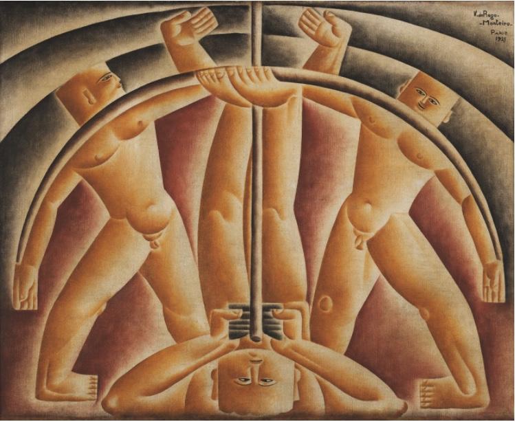 """""""Atirador de arco"""" (1925) de Vicente do Rego Monteiro. Foto: Museu de Arte Moderna Aloisio Magalhães."""