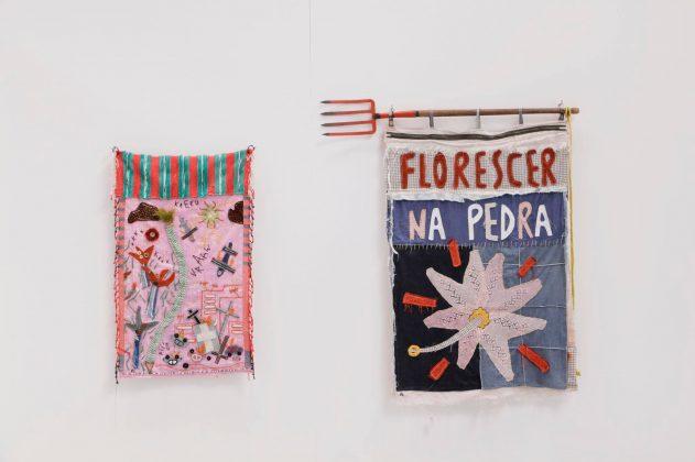 """Randolpho Lamonier, """"Florescer na Pedra"""" e """"Sonho de Ayahuasca - Festa de Caipora, Curupira e Boitatá"""". Foto: Daniel Nicolaevsky Maria."""