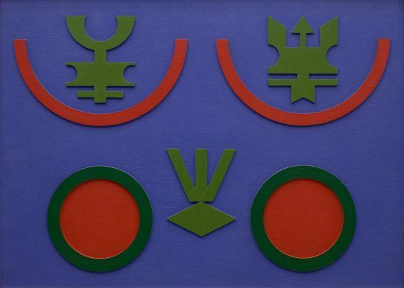 """""""Relevo Emblema"""", de Rubem Valentim, é uma das obras expostas na Pinta Miami Live pela Galeria Berenice Arvani, que participará do evento com obras de renomados artistas Latino-Americanos"""