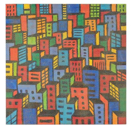 """Cidade"" (1983), de Claudio Tozzi. Foto: Cortesia Blombô"