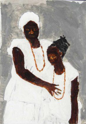 "Sem título (série ""Álbum de Família""), de Moisés Patrício, 2020. Moisés é um artista importante para os estudos atuais de arte afro-brasileira"