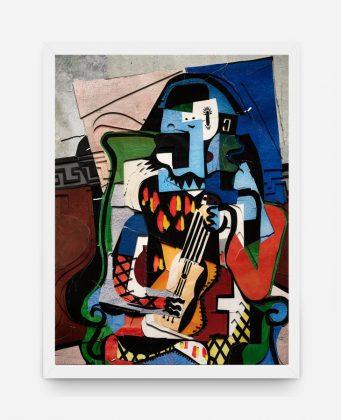 """Surfaces: Harlequin Musician, after Picasso"", de Vik Muniz"