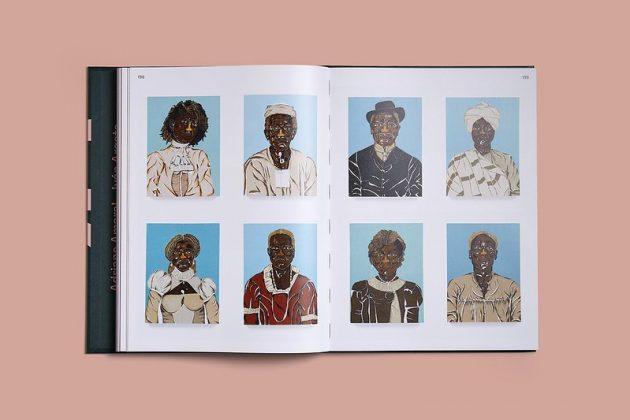 """Livro """"20 em 2020"""" aberto apresenta 8 pinturas de Dalton Paula"""