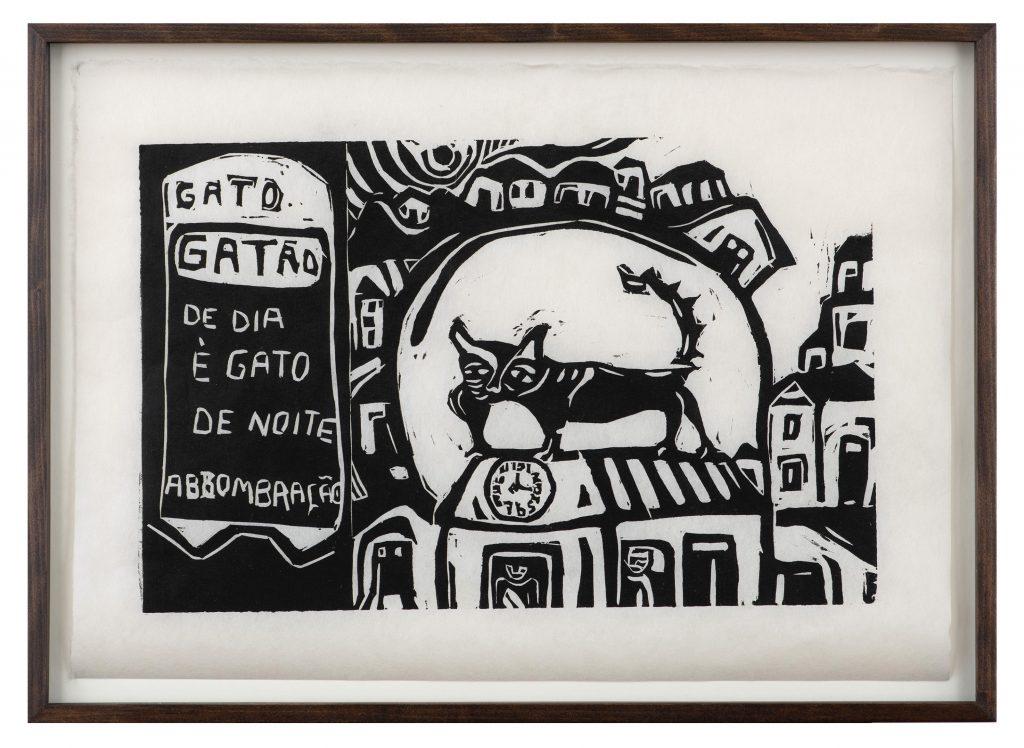 """Miriam Inêz da Silva. """"Gato gatão. De dia é gato, e de noite assombração"""". Cortesia Almeida e Dale Galeria de Arte."""