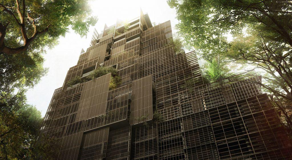 """Cidade Matarazzo. Projeto de Jean Nouvel para a """"Torre Mata Atlântica"""", no Rosewood Hotel São Paulo. Foto: Divulgação."""