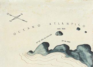 Enseada de Botafogo, 1928, de Ismael Nery, nanquim e aquarela sobre papel. Acervo do Museu de Arte Murilo Mendes.