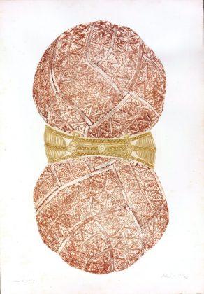Novelo Africano (1976), Rossini Perez. Água-tinta e relevo a cores. Foto: Biblioteca Nacional