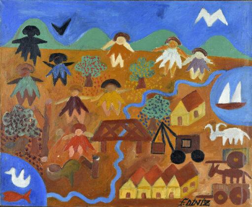Museu de Imagens do Inconsciente. Fernando Diniz, óleo sobre tela, 1956. Foto: Divulgação.