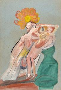 Adelina Gomes, óleo e guache sobre papel, 1962. Foto: Divulgação.