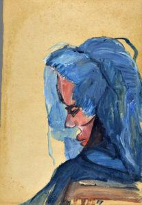 Adelina Gomes, óleo e guache sobre papel, 1968. Foto: Divulgação.
