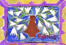 Museu de Imagens do Inconsciente. Fernando Diniz, óleo sobre papel, 1953. Foto: Divulgação.