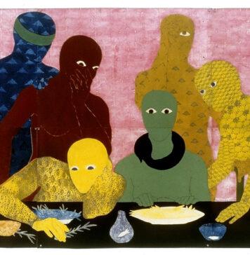 """34ª Bienal de São Paulo. """"La Cena"""" (The Supper), 1991, da artista cubana Belkis Ayón, uma das participantes da Bienal"""