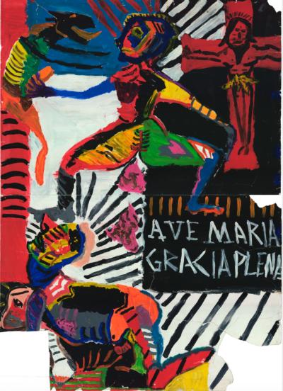 """Pedro Moraleida, """"Ave Maria Gracia Plena"""", da série """"Casais sorridentes de mãos atadas 02"""", 1998/1999. Foto: Guilherme Horta/ Divulgação"""