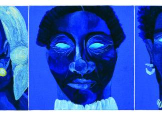 Enciclopédia Negra: Retratos de Benta Maria, Antonio Dutra e Manuel do Sacramento por Igi Ayedun. Foto: Cortesia Companhia das Letras e Pinacoteca de São Paulo