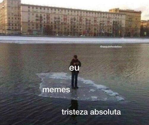 """Meme produzido pelo coletivo """"Saquinho de Lixo"""". Foto: Divulgação."""