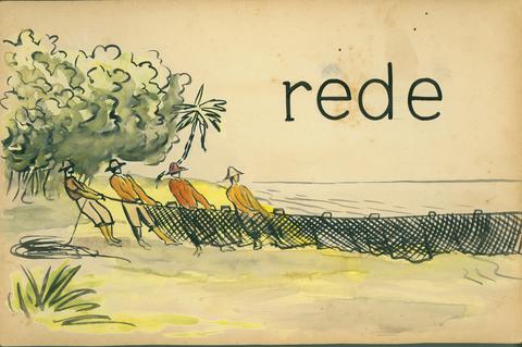 Slides utilizados pelo método Paulo Freire de alfabetização de adultos nos anos 1960. Foto: Divulgação.