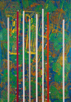 Obra da série ALTURAS de Alex Flemming, exposta na Arte132 galeria